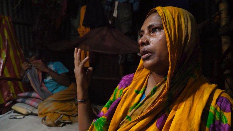 Nurjahan Begum said she had been used to flooding, but 'last year was too much'