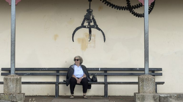 One of the pieces was spotted above a bench in Gorleston