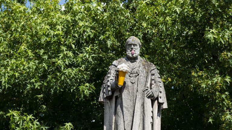 Another sculpture was seen on a statue in Kings Lynn