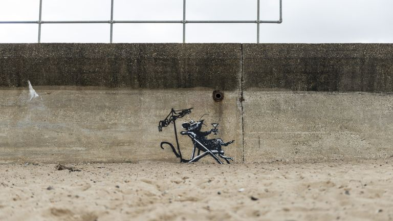 After a week of speculation, Banksy claimed the pieces via a video on his Instagram page