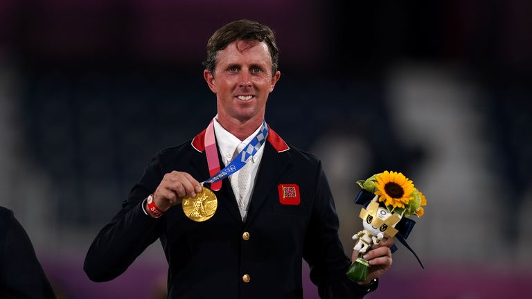Ben Maher with his Gold medal