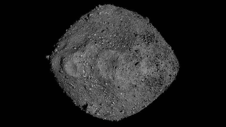 This mosaic of Bennu was created using observations made by NASA's OSIRIS-REx spacecraft that was in close proximity to the asteroid for over two years. Credits: NASA/Goddard/University of Arizona