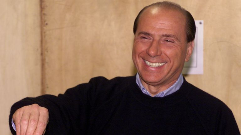 Silvio Berlusconi casts his ballot at the 2000 elections. Pic: AP