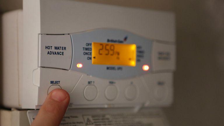 A British Gas boiler controller.