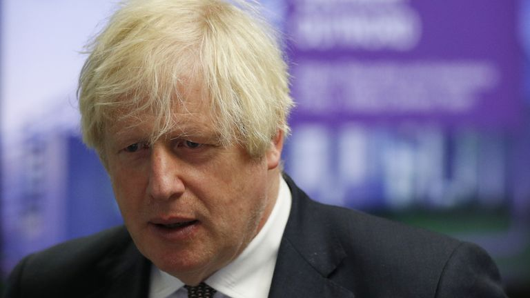 Prime Minister Boris Johnson during a visit to Northwood Headquarters, the British Armed Forces Permanent Joint Headquarters, in Eastbury, north west London