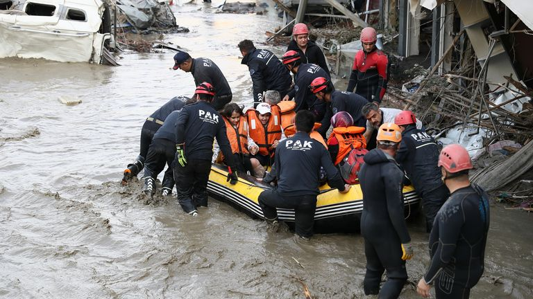 The floods have claimed the lives of 40 people so far