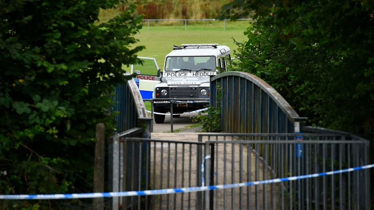 The five-year-old boy's body was found in the river in the early hours of Saturday. Pic: Wales News Service