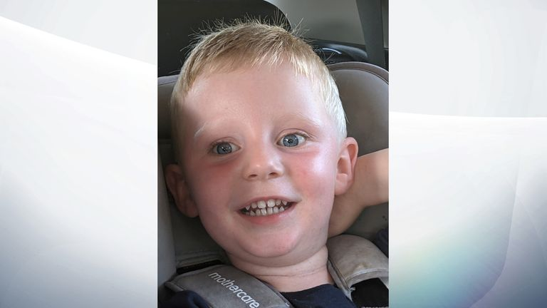 Reid Steele, 2, died in hospital after he was found critically injured at a property in Bridgend, Wales