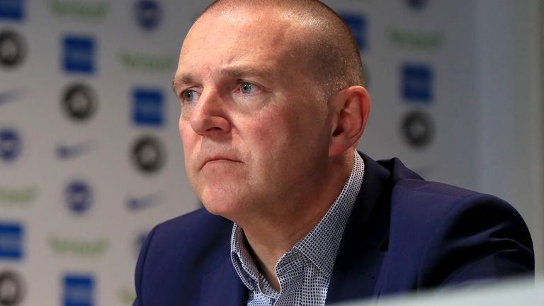 File photo dated 20-05-2019 of Brighton and Hove Albion CEO and deputy chairman Paul Barber