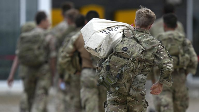 British troops arrive home as the UK ends its Aghanistan evacuation.
