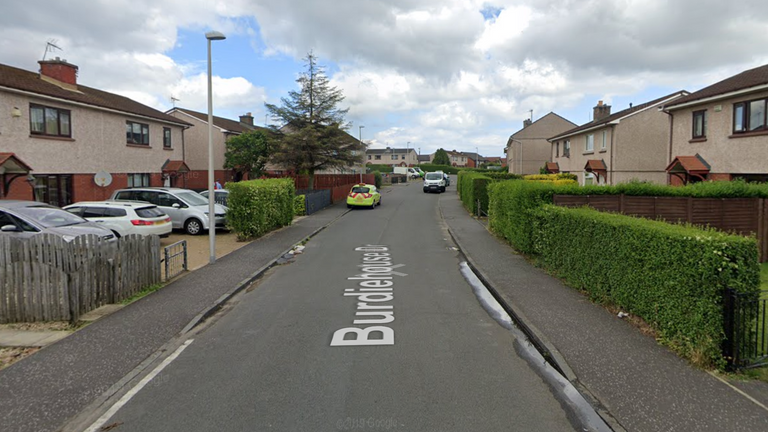 Shots were fired at a property on Burdiehouse Drive. Pic: Google