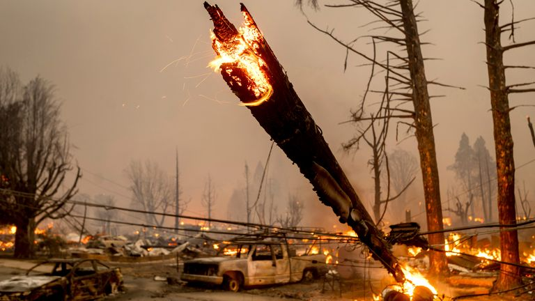 No injuries or casualties were reported despite some residents refusing to evacuate. Pic AP