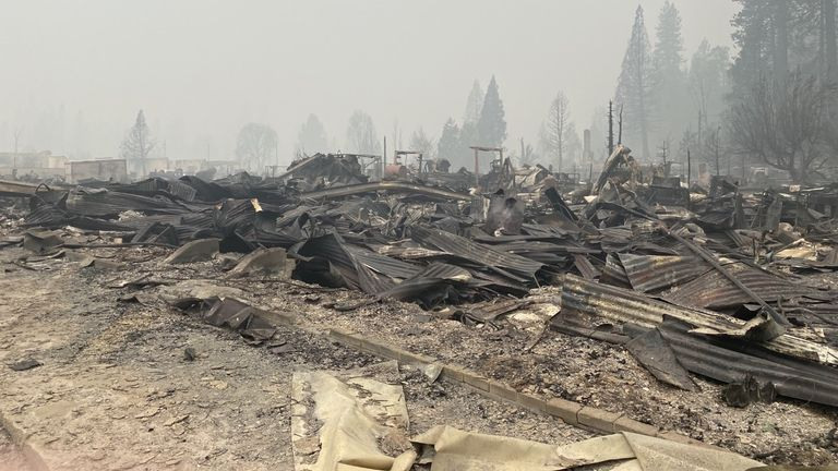 Greenville in California has been devastated by wildfires