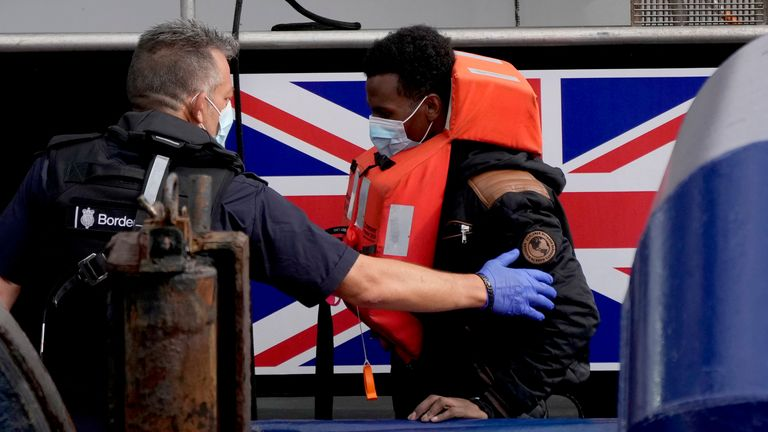An Eritrean man lost his life while trying to reach the UK on Thursday. Pic: AP