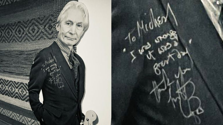 """""""To Michael, I was wrong it was a great day"""". Pic courtesy of Emily Eavis"""
