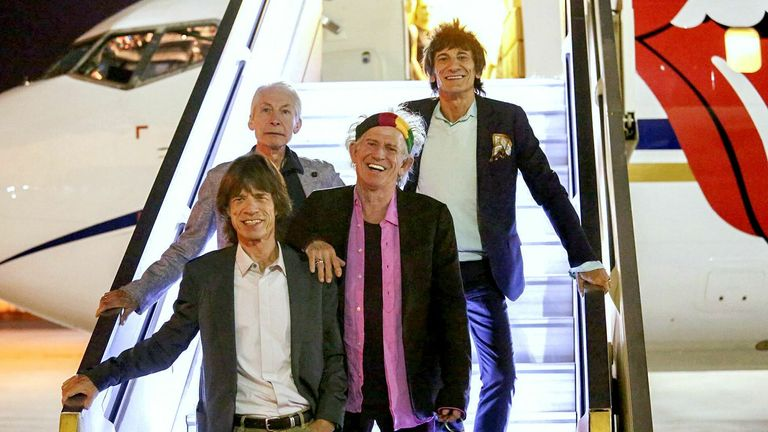 The Rolling Stones arrive at Ben Gurion Airport, Israel in 2014. Pic: Israel Sun/Shutterstock