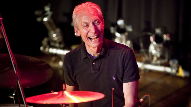 Charlie Watts performing with the band 'The ABC & D of Boogie Woogie' at the Casino in Herisau Switzerland. Pic: Ennio Leanza/EPA/Shutterstock
