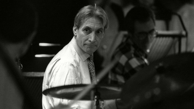 Charlie Watts's Jazz Band playing at Ronnie Scott's club in 1985. Pic: Alan Davidson/Shutterstock