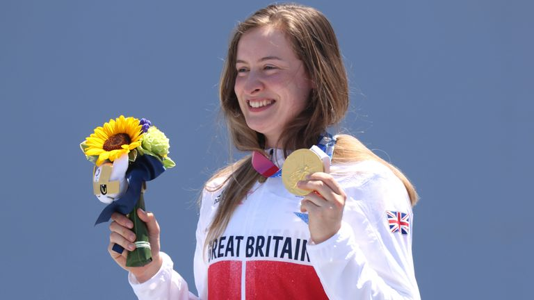Charlotte Worthington won the gold after her second attempt featured the first 360 backflip in the women's event