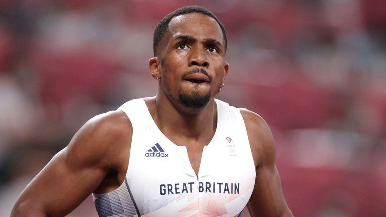 Chijindu Ujah of Britain during the Tokyo Olympics