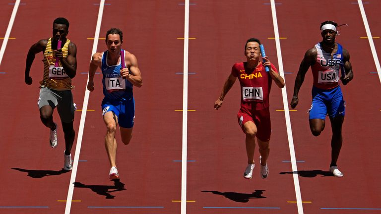 China won the heat while the US was sixth. Pic: AP