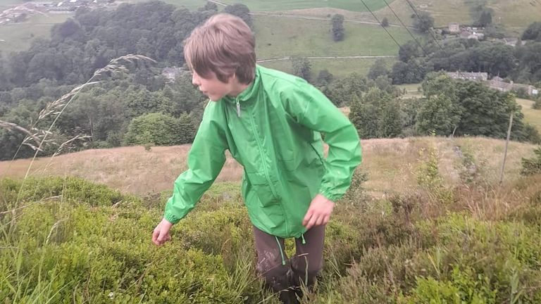 Jude Walker is walking from Yorkshire to London to raise awareness of climate change