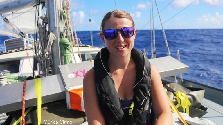 Dr Winnie Courtene-Jones from the University of Plymouth. The idyllic Caribbean islands are becoming increasingly strewn with plastic pollution caused by the industries that fund their economies, a study has found.
