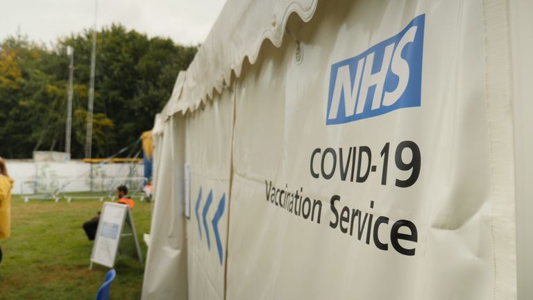 A COVID vaccine tent is among this year's line up