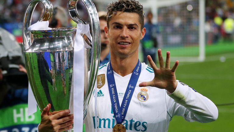 Ronaldo has won five Champions League trophies