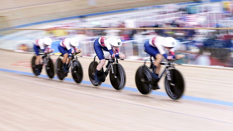 Laura Kenny and her teammates claimed the silver medal