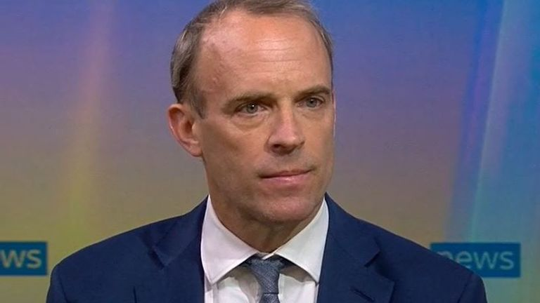 Dominic Raab says 'with hindsight' he wouldn't have gone on holiday during unfolding Afghanistan crisis
