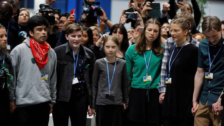 Dylan Hamilton with Greta Thunberg