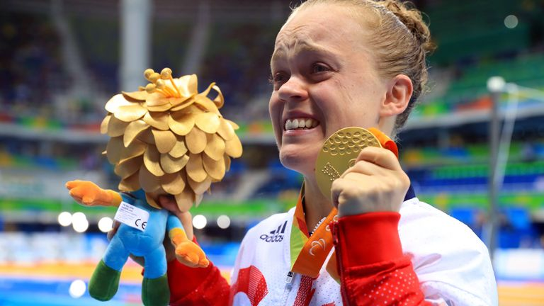 Ellie Simmonds broke down in tears after winning gold at Rio 2016
