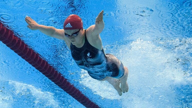 Ellie Simmonds competes at Rio 2016. Pic: OIS/IOC