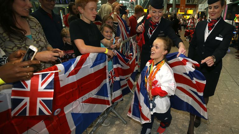 Ellie Simmonds was given a hero's welcome on her return from the Rio Paralympics