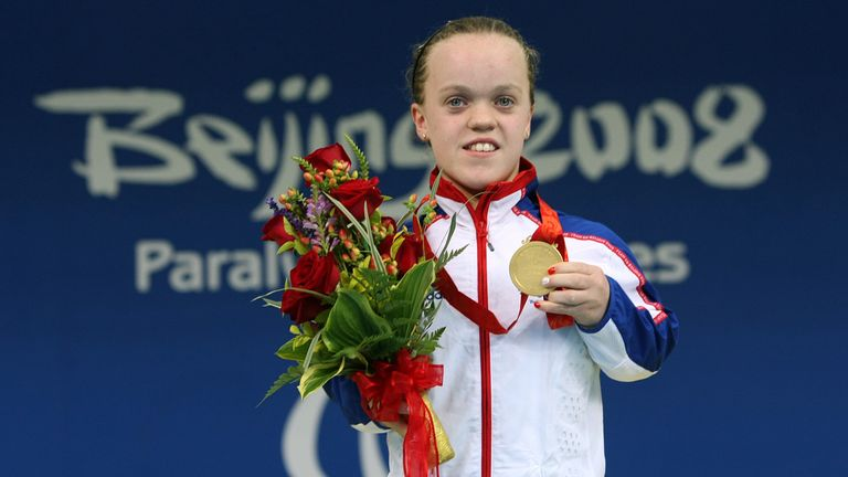 Ellie Simmonds won two golds at the Beijing Paralympics aged just 13
