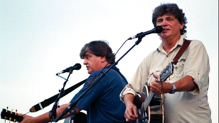 Phil and Don Everly performing some of their hits in 1997