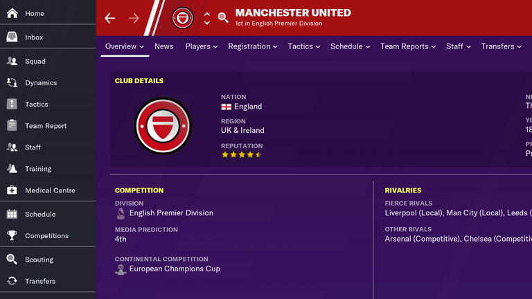 'Manchester United' will be replaced in Football Manager with 'Manchester UFC'