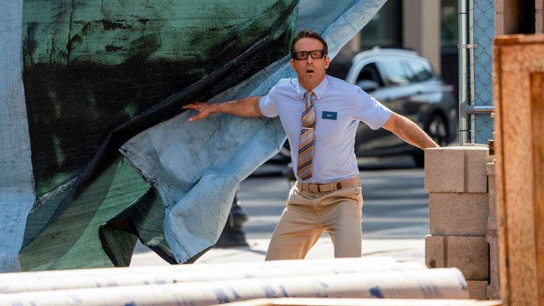 Ryan Reynolds as Guy in 20th Century Studios' Free Guy. Pic: Alan Markfield/ Twentieth Century Fox Film Corporation
