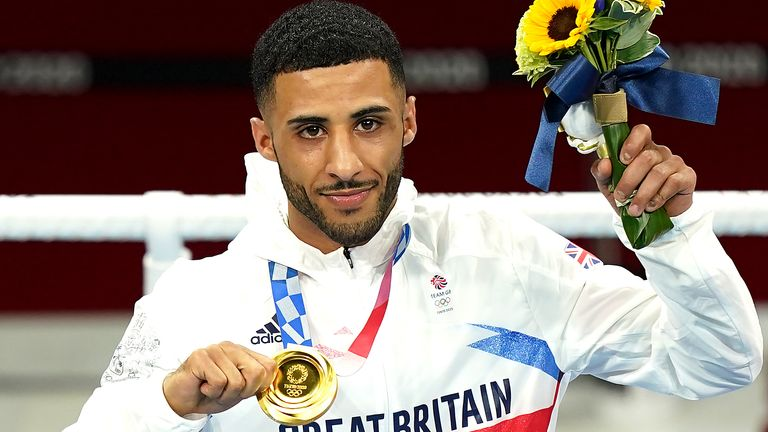 Tokyo 2020 Olympic Games - Day Fifteen Great Britain's Galal Yafai celebrates with the gold medal after the Men's Fly (48-52kg) Final Bout at the Kokugikan Arena on the fifteenth day of the Tokyo 2020 Olympic Games in Japan. Picture date: Saturday August 7, 2021.