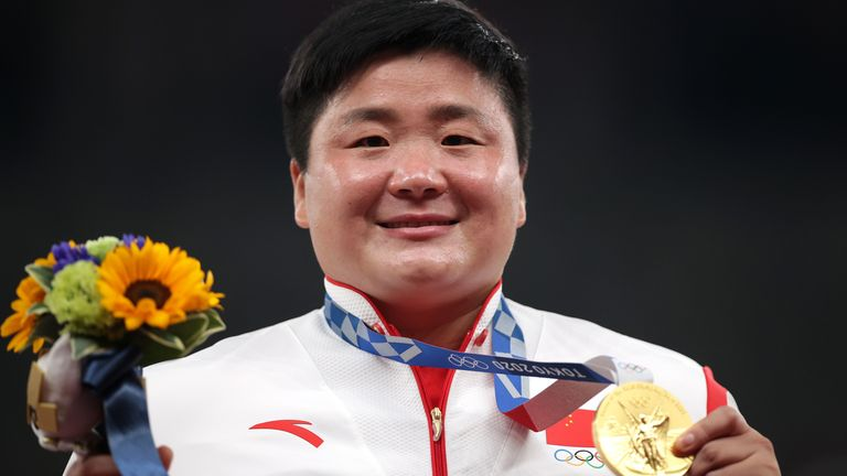 Gong on the podium in Tokyo