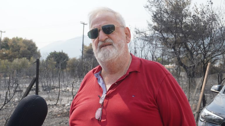 George Kyriakopolous lost his home, his parents home and his dog in the fire.