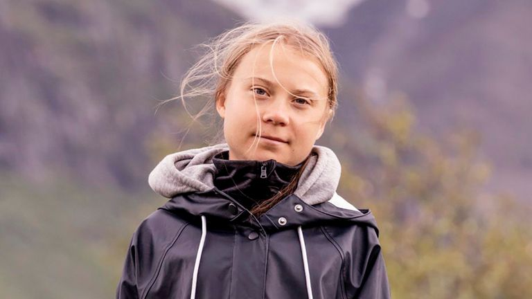 S..pmi 2021-07-13.Climate activist Greta Thunberg poses for a photo by the ..hkk.. mountain at the world heritage site of the Laponia area in S..pmi, Sweden om July 13, 2021..Foto: Carl-Johan Utsi / TT / code 11300.***SWEDEN OUT***