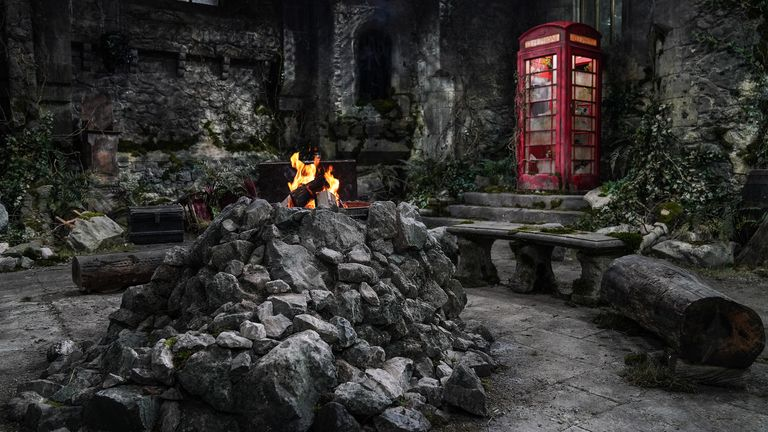 Undated handout photo issued by I'm A Celebrity...Get Me Out Of Here! of Gwrych Castle, Abergele, North Wales, which has been transformed into a campsite for 10 stars ahead of the new series.
