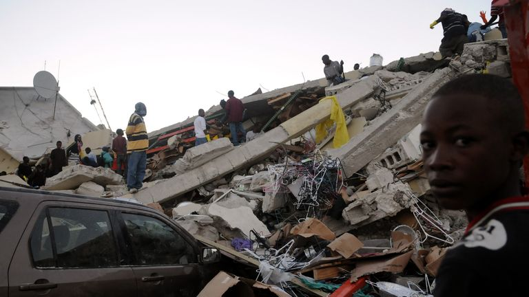 The country is still recovering from an earthquake in January 2010. Pic: AP