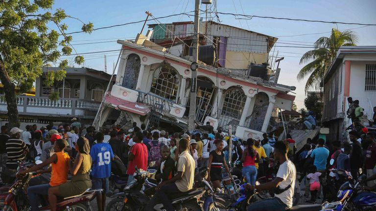 The earthquake has struck days before a tropical storm is due to hit the country