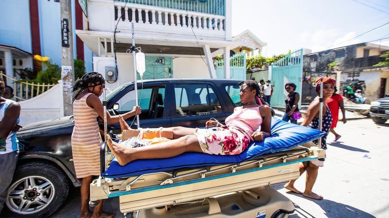 Hospitals are being overwhelmed in Haiti as hundreds of people have been injured in the earthquake