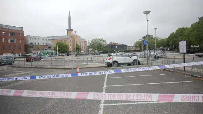 A police cordon remains in place in Railway Approach, Harrow