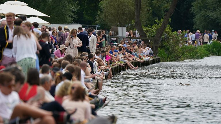 It is the first time women have been allowed to wear trousers in the rowing events' Stewards' Enclosure in 182 years