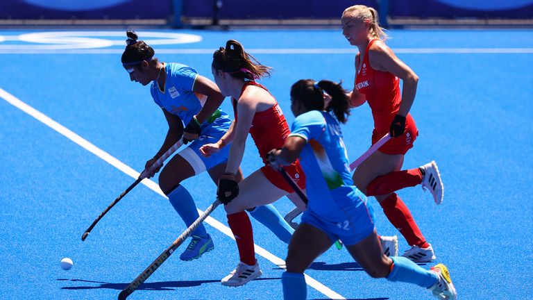 Despite weathering early Team GB pressure, India were beaten  by the former gold medalists